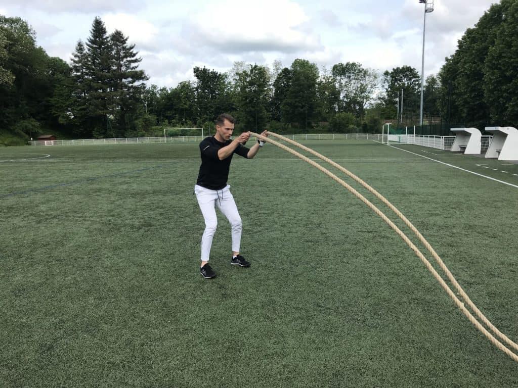 Battements synchronisés avec squat