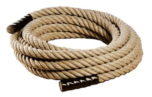 Une corde de 30-32 mm de diamètre et 15m de long pour démarrer