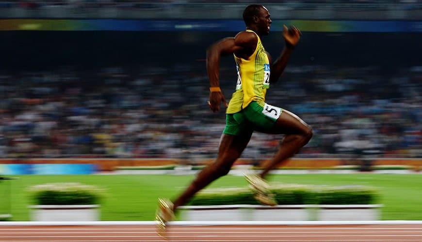 La posture d'Usain Bolt lors d'un sprint (image Google)
