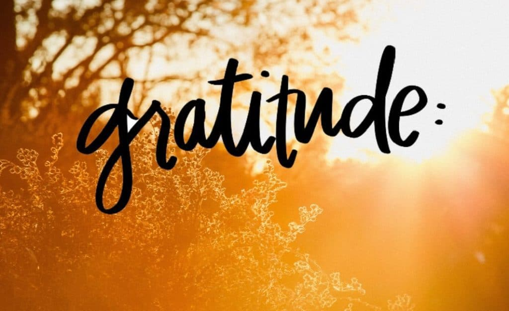 4ième étape - Eprouver de la gratiude