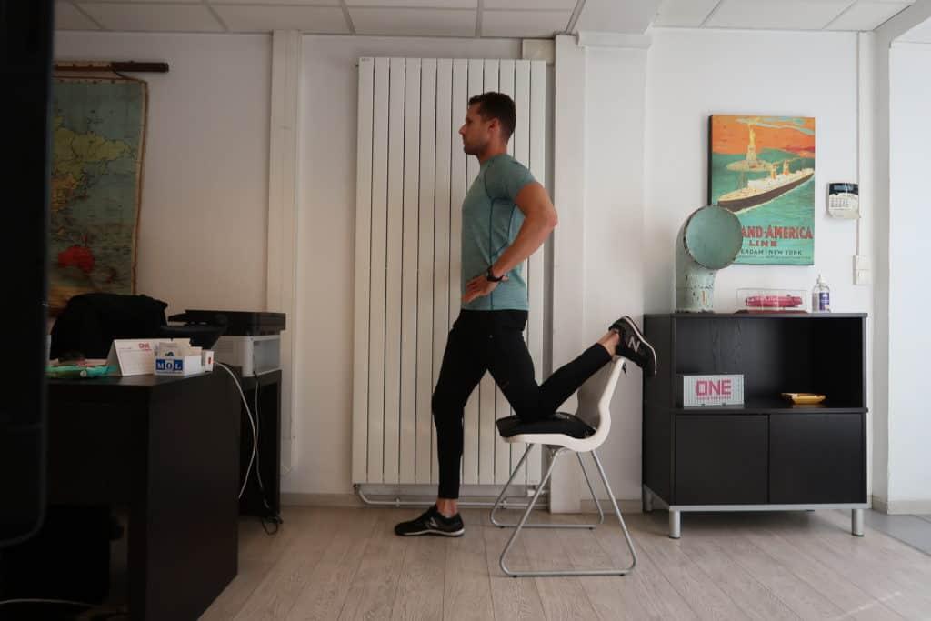Etirement des fléchisseurs de hanche et du psoas (image Actif-Coaching)