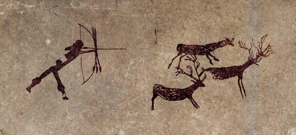 Le mouvement à l'époque des chasseurs-cueilleurs (image Le Partage)